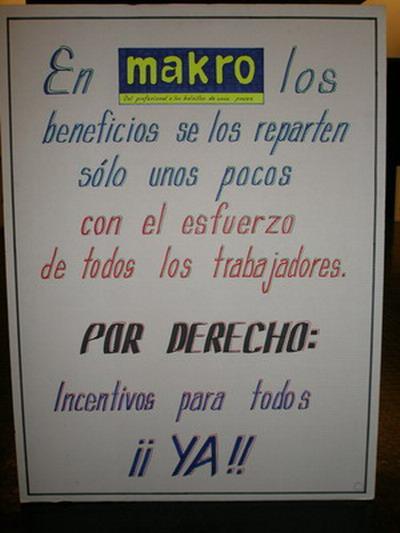 Se ha fijado el 8 de Febrero de 2008 con la dirección el inicio de la negociación de un sistema de incentivos para los trabajadores de Makro
