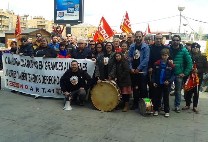 Concentración contra la firma del Convenio de Grandes Almacenes 2013 en la Plaza Cataluña - Cataluña