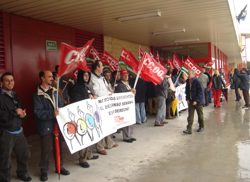Concentraciones de CCOO en Makro Puerto Stª María por unos incentivos justos y por el Descanso Semanal