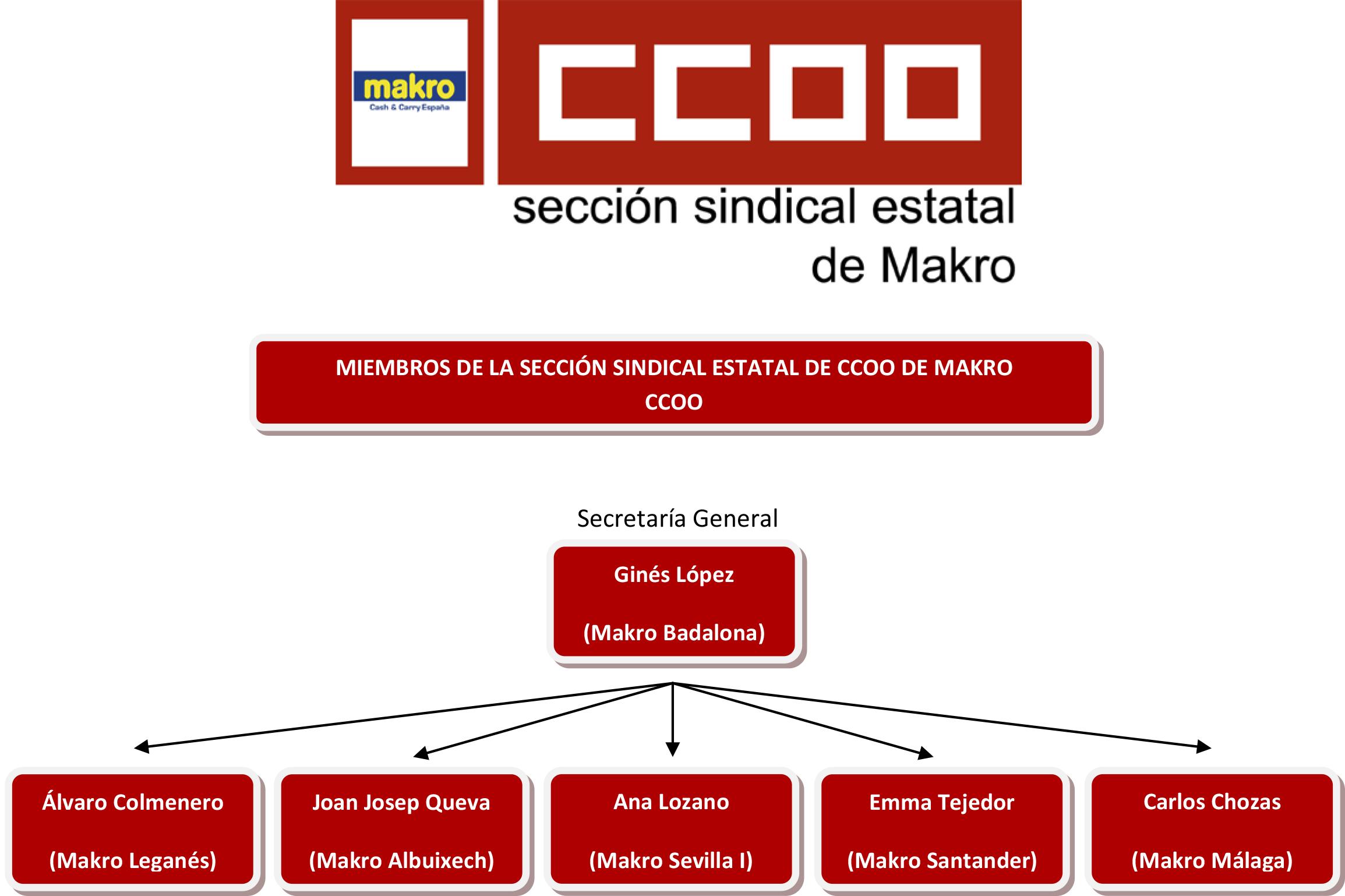Ejecutiva Estatal CCOO de Makro