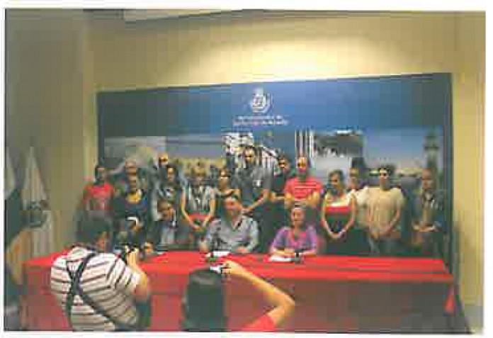 Rueda de prensa en Santa Cruz de Tenerife contra la firma del último convenio firmado en GG.AA por Fetico y Fasga