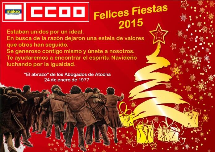 felicitación navidad 2015 Makro CCOO