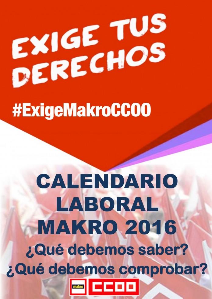 Calendario Laboral Makro 2016