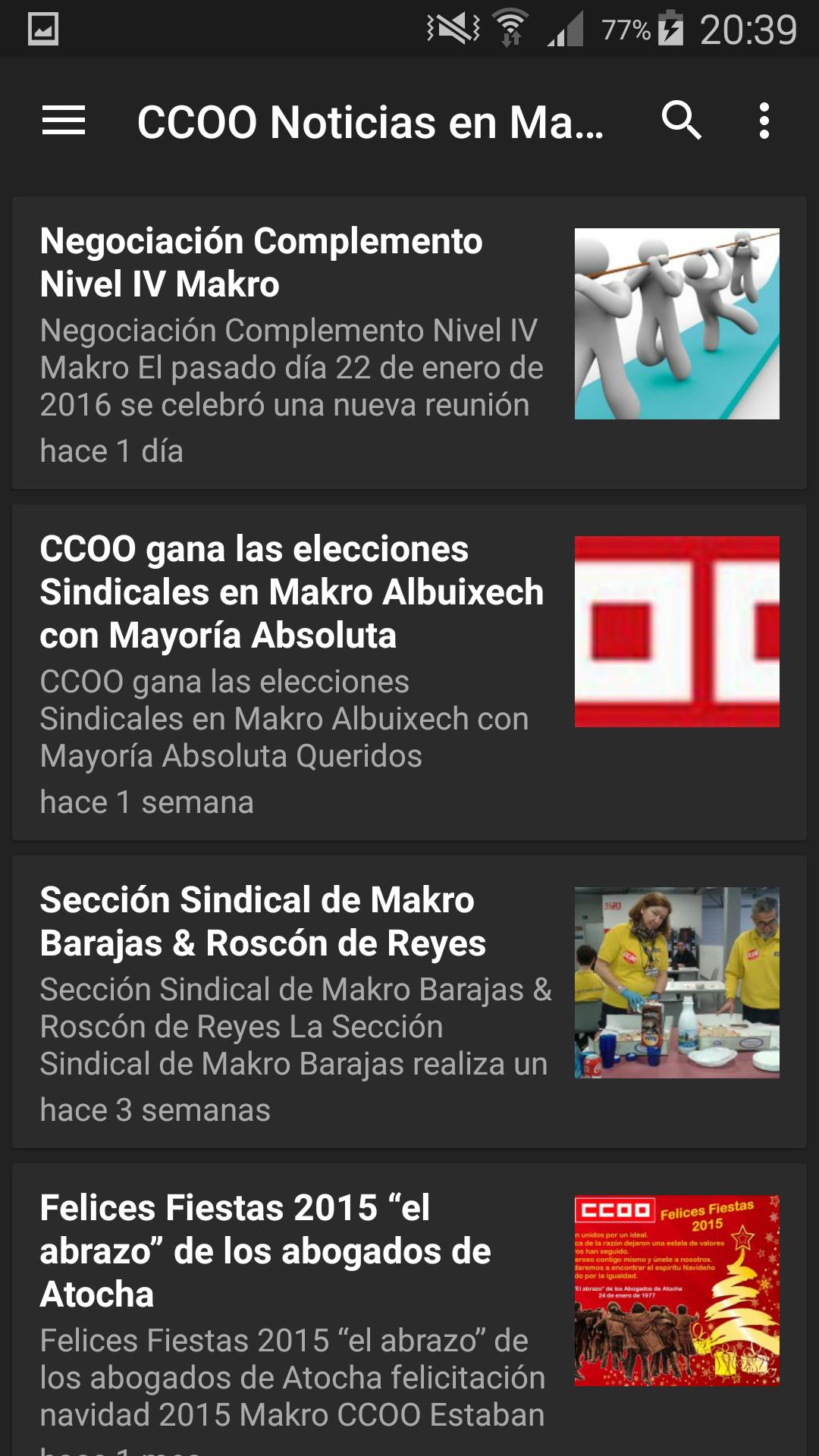App Makro CCOO Noticias
