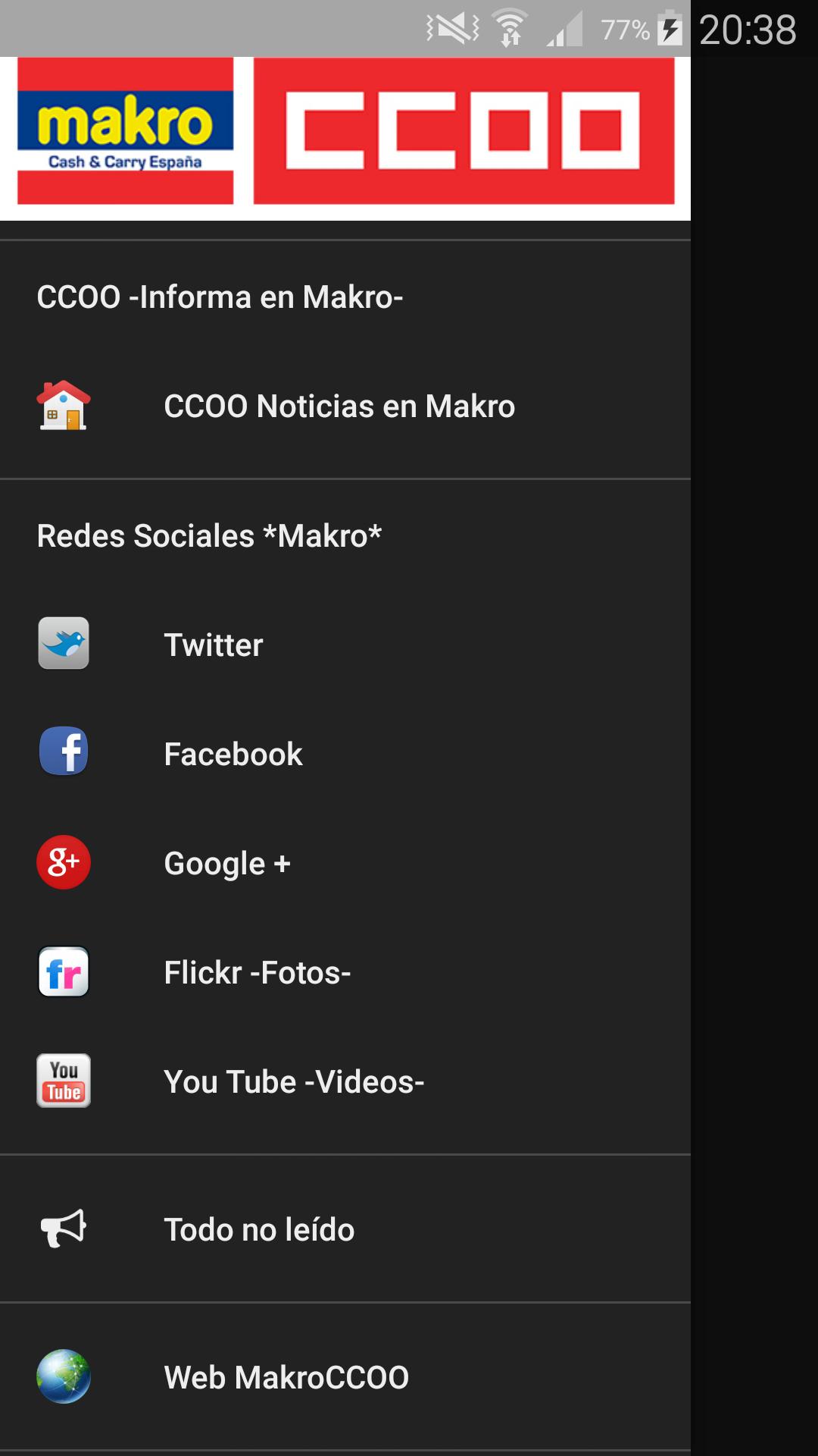 App Makro CCOO