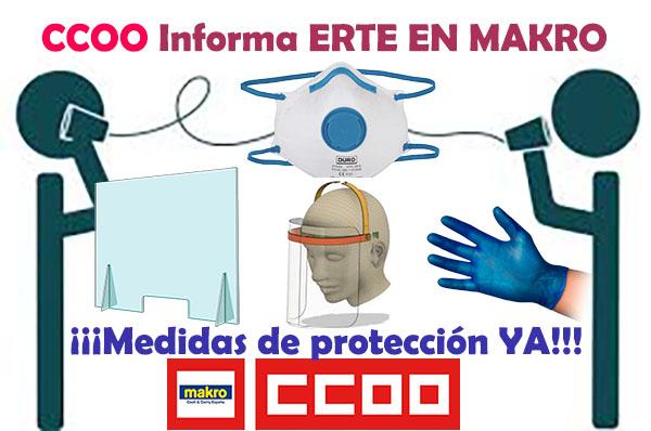 CCOO informa en Makro ERTE Medidas de protección YA