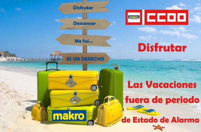 Vacaciones en Makro Estado de Alarma COVID 19