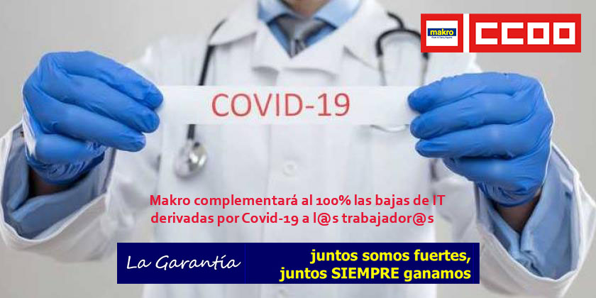 Complemento IT Baja Laboral coronavirus-accidente-baja-laboral Makro Cash Carry